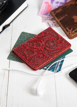"Органайзер для документов  ( id паспорт ) / карт hi art ad-03 crystal red ""buta art"""