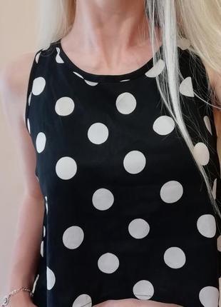 Лёгкая блузка топ горох