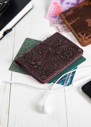 """Органайзер для документов ( id паспорт ) / карт hi art ad-03 crystal sangria """"buta art"""""""