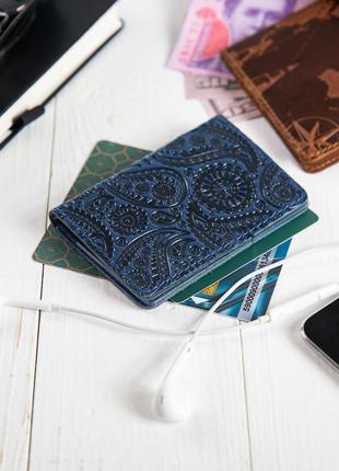 "Органайзер для документов ( id паспорт ) / карт hi art ad-03 crystal blue ""buta art"""