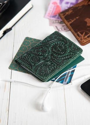 "Органайзер для документов  ( id паспорт ) / карт hi art ad-03 crystal green ""buta art"""