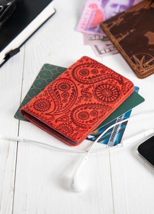 """Органайзер для документов ( id паспорт ) / карт hi art ad-03 red berry """"buta art"""""""