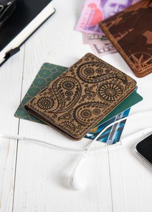"""Органайзер для документов ( id паспорт ) / карт hi art ad-03 shabby olive """"buta art"""""""