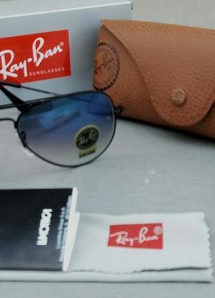 Ray ban aviator diamond hard 58 очки капли солнцезащитные1 фото