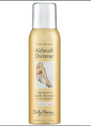 Sally hansen airbrush legs shimmer жидкие колготки автозагар с шиммером