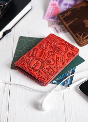 "Органайзер для документов ( id паспорт ) / карт hi art ad-03 red berry ""let's go travel"""