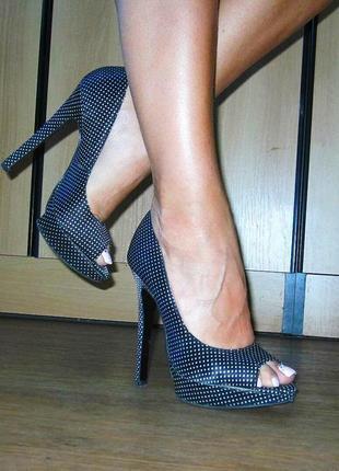 Атласные туфли. туфельки с открытым передком