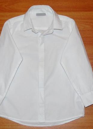 Белая рубашка с длинным рукавом next,некст,2-3 года,98
