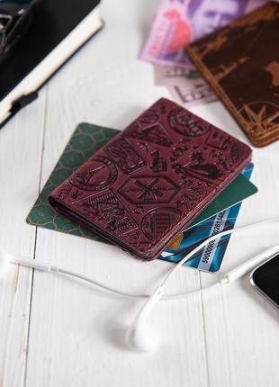 "Органайзер для документов (id паспорт)/карт hi art ad-03 shabby plum ""let's go travel"""