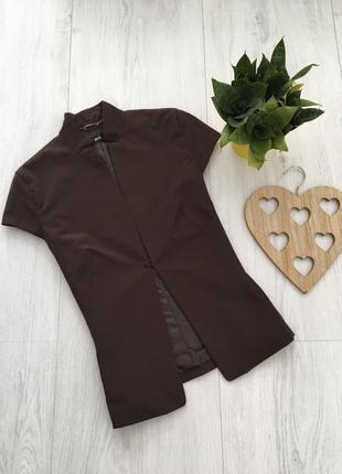 Стильный летний деловой пиджак с коротким рукавом, m-l