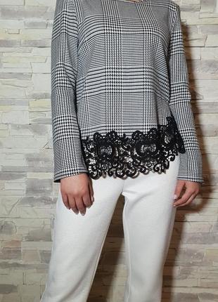 Красивая блуза с кружевом zara