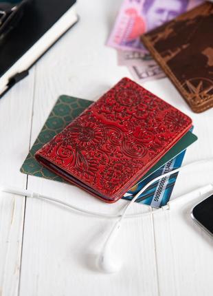 "Органайзер для документов (id паспорт)/карт hi art ad-03 crystal red ""mehendi art"""