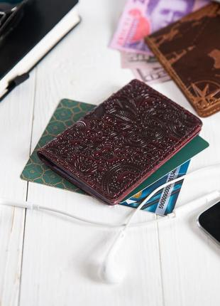 "Органайзер для документов (id паспорт)/карт hi art ad-03 crystal sangria ""mehendi art"""