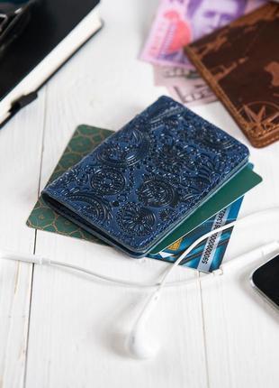 "Органайзер для документов (id паспорт)/карт hi art ad-03 crystal blue ""mehendi art"""