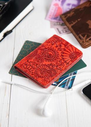 "Органайзер для документов (id паспорт)/карт hi art ad-03 red berry ""mehendi art"""