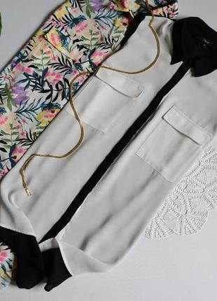 Блуза шифонова з кишеньками next