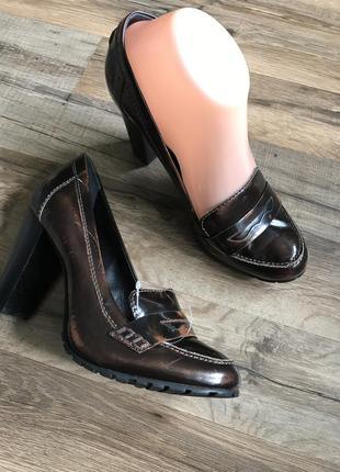 Кожаные туфли лоферы сток3 фото
