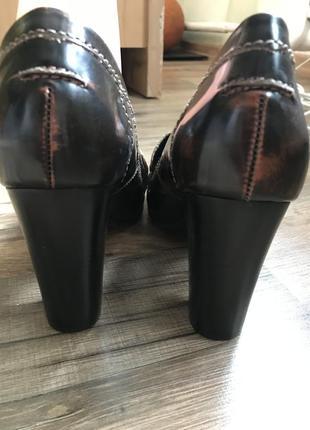 Кожаные туфли лоферы сток6 фото