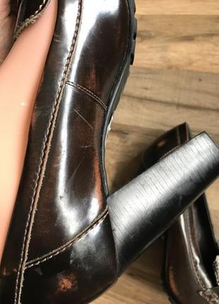 Кожаные туфли лоферы сток8 фото