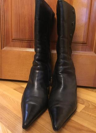 Зимние кожаные ботинки baldinini