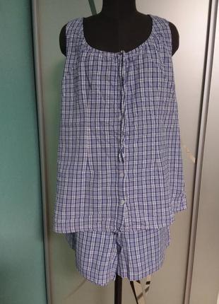 Хлопковый натуральный костюмчик  с шортами 20 размера