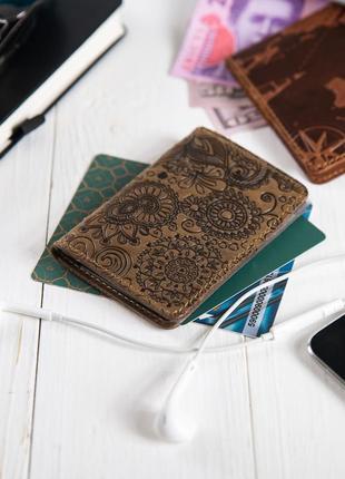 """Органайзер для документов (id паспорт)/карт hi art ad-03 shabby olive """"mehendi art"""""""