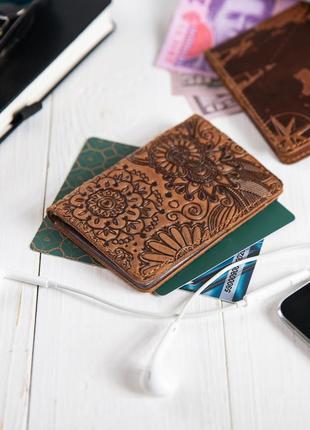 """Органайзер для документов (id паспорт)/карт hi art ad-03 shabby cumaru """"mehendi art"""""""