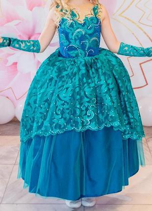 Платье бальное на выпускной в детском саду.