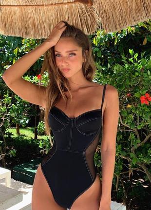 d10acc3330528 Черные купальники с сеткой 2019 - купить недорого вещи в интернет ...