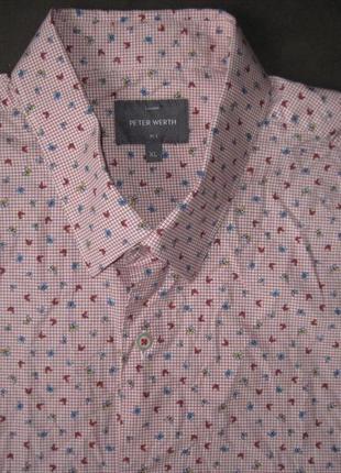 Peter werth (l/xl) рубашка мужская натуральная3 фото