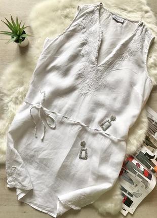 Легкая туника с вышивкой из льна от yessica