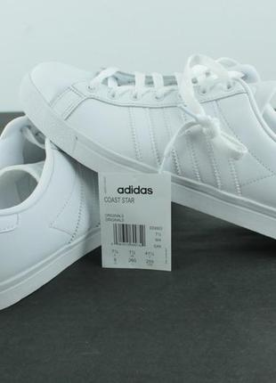 Оригинальные кожаные кроссовки adidas coast star white ee89039 фото