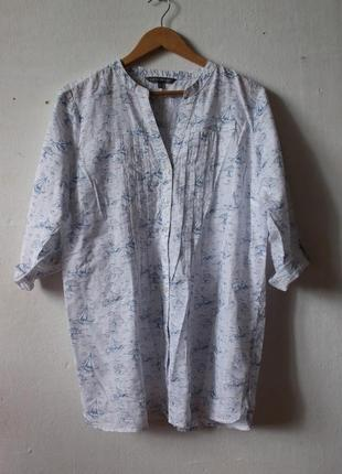 Рубашка с корабликами laura ashley