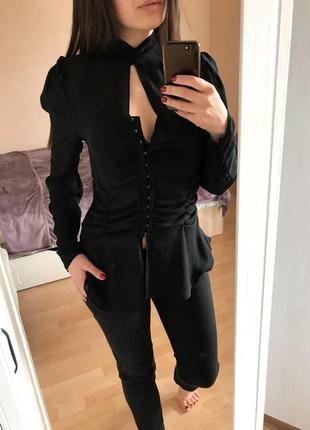 Супер скидки! новая шифоновая блуза блузка с корсетом на крючках/ m-xl