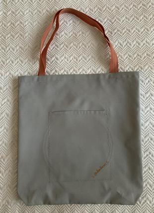 Эко сумка шоппер торба @don.bacon серая с вышивкой чашки кофе и рисунком латте-арта3 фото