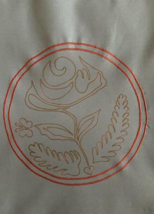 Эко сумка шоппер торба @don.bacon серая с вышивкой чашки кофе и рисунком латте-арта4 фото