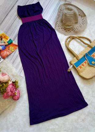 Пляжное платье-бандо на море размер хs-s (6-8)