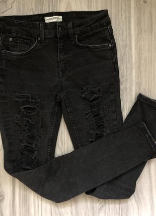 Трендовые джинсы рванки  zara 32-34