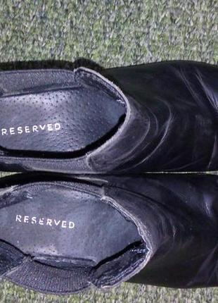 Кожаные ботинки челси rezerved