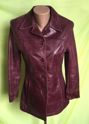 Куртка кожа марсала 42 р