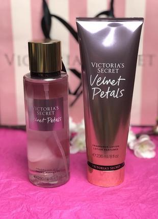 Парфюмированный мист и лосьон для тела victoria's secret velvet petals