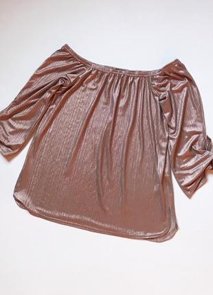 Шикарная блуза плиссе рукава на завязках.р. m