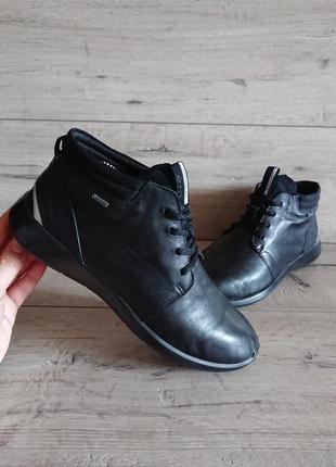 Ботинки деми экко ecco soft 5 gore-tex 40 р 26 см кожа
