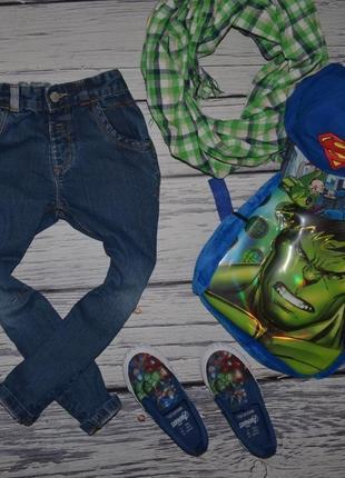4 - 5 лет 110 см фирменные джинсы скинни узкачи для моднявок