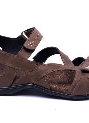 Мужские кожаные сандалии stepwey original olive