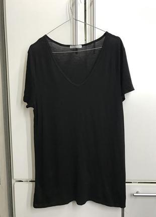 Новая удлинённая футболка zara
