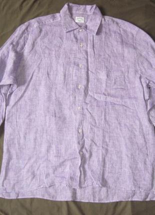 Botton down roma (xxl/45) рубашка мужская лен