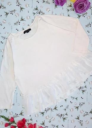 -50% на 2-ю единицу стильная блуза свитерок с баской из шифона atmosphere, размер 42 - 44