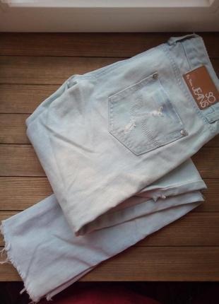 Джинсы so jeans by pimkie узкие, с прорезями на коленках