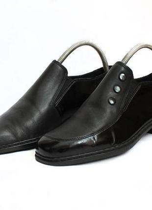Кожаные туфли rieker. размер 38